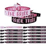 MEJOSER 12pcs Pulseras The Bride + Bride Tribe Equipo de Novia para Despedida de Soltera Boda Decoración Disfraces Fiesta