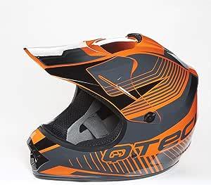 Orange XS 51-52cm ATV Quad BMX Motorrad Qtech Moto-Cross Motocross MX Stil Helm f/ür Kinder