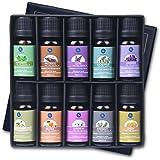 Lagunamoon Olio Essenziale per Diffusori, 10 Oli Essenziali Aromaterapia Pure