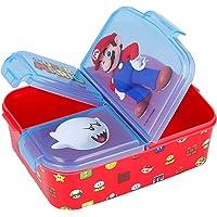 Sandwichera avec 3 compartiments pour enfants – Sac à déjeuner pour enfants – Boîte à goûter – Boîte à déjeuner Super…