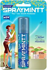 Spraymintt Mouth Freshener - Pack of 2 (Ice Mint) with Spraymintt Mouth Freshener (Elaichi)