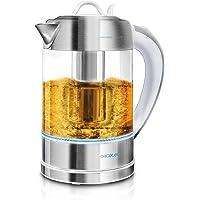 Cecotec Bouilloire Électrique ThermoSense 370 Clear. 1.7 L, Verre Borosilicate, Sans BPA, Base 360º, Filtre Anticalcaire…