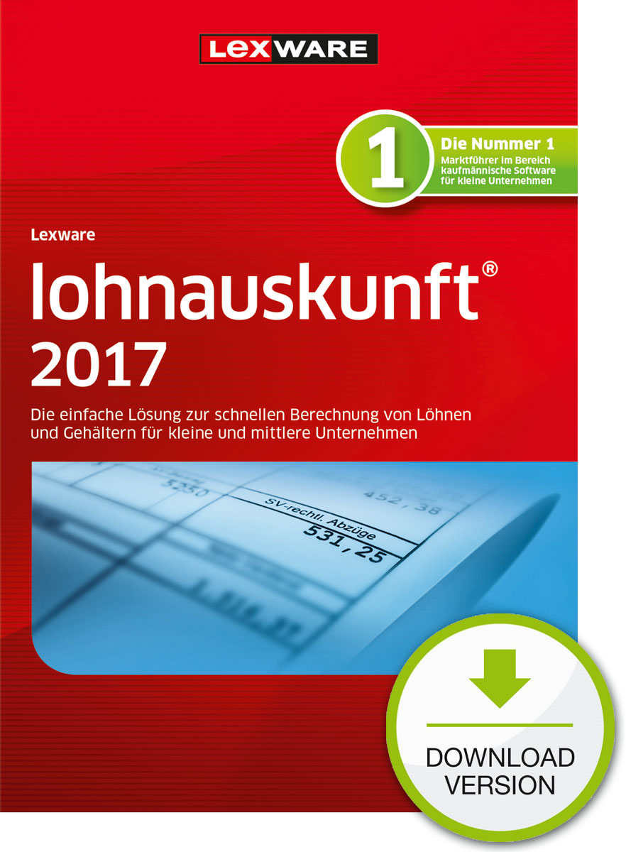 Lexware lohnauskunft 2017 Download Jahresversion (365-Tage) [Download]
