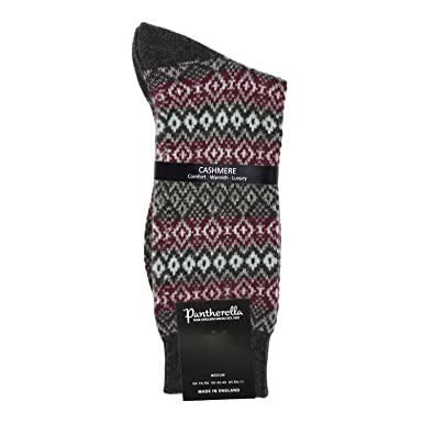 Pantherella - Mens Cashmere Socks - Fair Isle 5781: Amazon.co.uk ...
