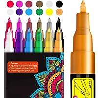 Peinture Acryliques Stylos, RATEL 12 couleurs Marqueur Peinture Acrylique Premium étanche Permanent Art Peinture Set…