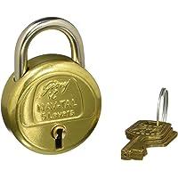 Godrej Locks Navtal 5 Levers Brass Padlock with 3 Keys (Brass)