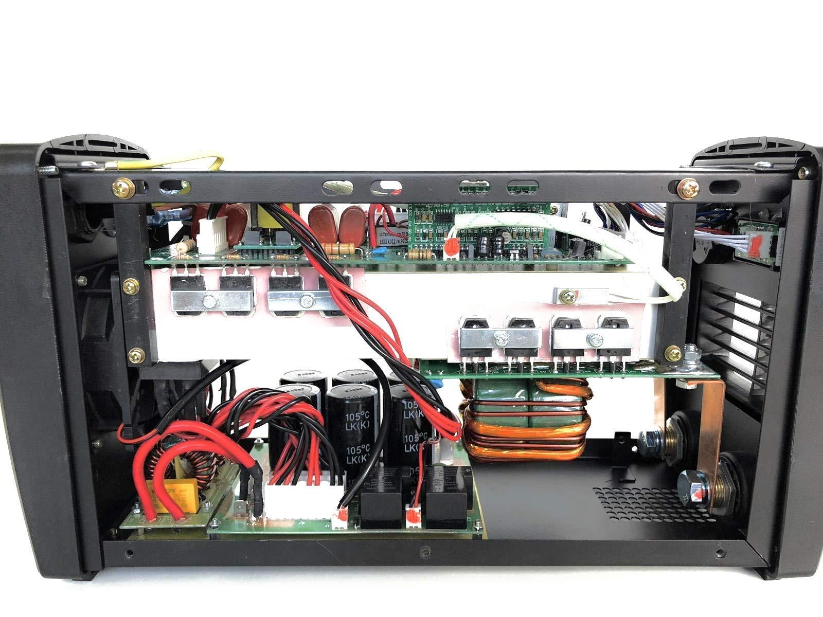 HERPRO Soldador Inverter Profesional IGBT de 200 amperios con Careta de