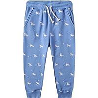 FILOWA Pantalons Enfants Filles Garçons de Sport Rosa Bleu Taille élastique Coton Jogging Scolaire Poche Cheval Licorne…