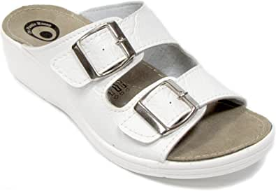 Dr Punto Rosso D654 Slip-on Donna Sandali Mule Zoccoli Pantofole Scarpe