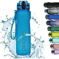 Adoric Sport Trinkflasche, [BPA Frei Tritan] 1L Auslaufsicher Kunststoff Wasserflasche Sport, Sportflasche Fahrrad für…