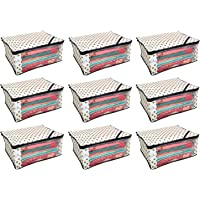 Kuber Industries 9 Piece Non Woven Saree Cover Set, Ivory (NONWOV000NWSC05)