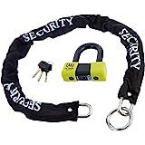Urban Security U75 + 10.120L Anti-Diefstal Hangslot Mini U 18 mm High Security Goedgekeurd Mevr. en kettinglus 10 mm