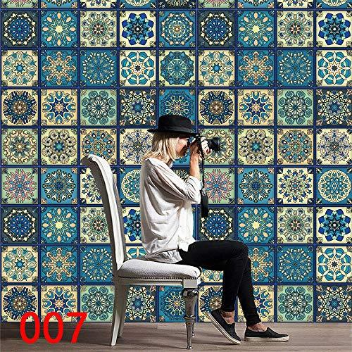 iHAZA 1 Rouleau De Carrelage Auto-Adhésif Art Sticker Mural Autocollant Bricolage Cuisine Salle De Bain Décor Vinyle