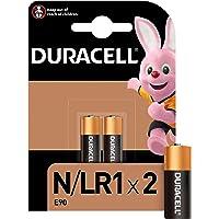 Duracell N Alkaline Battery 1.5V, Pack of 2 (E90 / LR1) for Flashlights, Calculators and Bike Lights