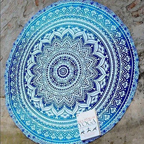 Preisvergleich Produktbild Flyyfree Fader Farbe Runde Cotton Tippet Tischdecke Strandtuch Runde Yoga Matte