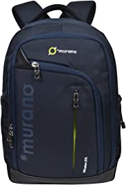 Murano Winston 27 LTR Laptop Backpack for 15.6 inch Laptop and Polyester Water Resistance Backpack for Men and Women- Navy