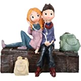 JaipurCrafts WebelKart Cute Romantic Love Couple Sitting on Sofa Statue Showpiece , 11 cm