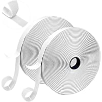 Chengruishun Hook and Loop Tape,Self Adhesive Double Sided Sticky Tape, Heavy Duty Double Sided White Sticky Tape…