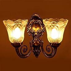 Prop It Up Sfl Antique Look Portuguese Style Double Lamp Wall Light, (27Cmx27Cmx13Cm),Brown Antique