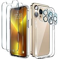 LK Coque Compatible avec iPhone 13 Pro 6.1 Pouces, 4 Pièces - 2 Verre Trempé Protection écran & 2 Caméra Arrière…