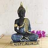eCraftIndia Buddha Showpiece (18.5 cm x 13 cm x 24 cm, Blue)