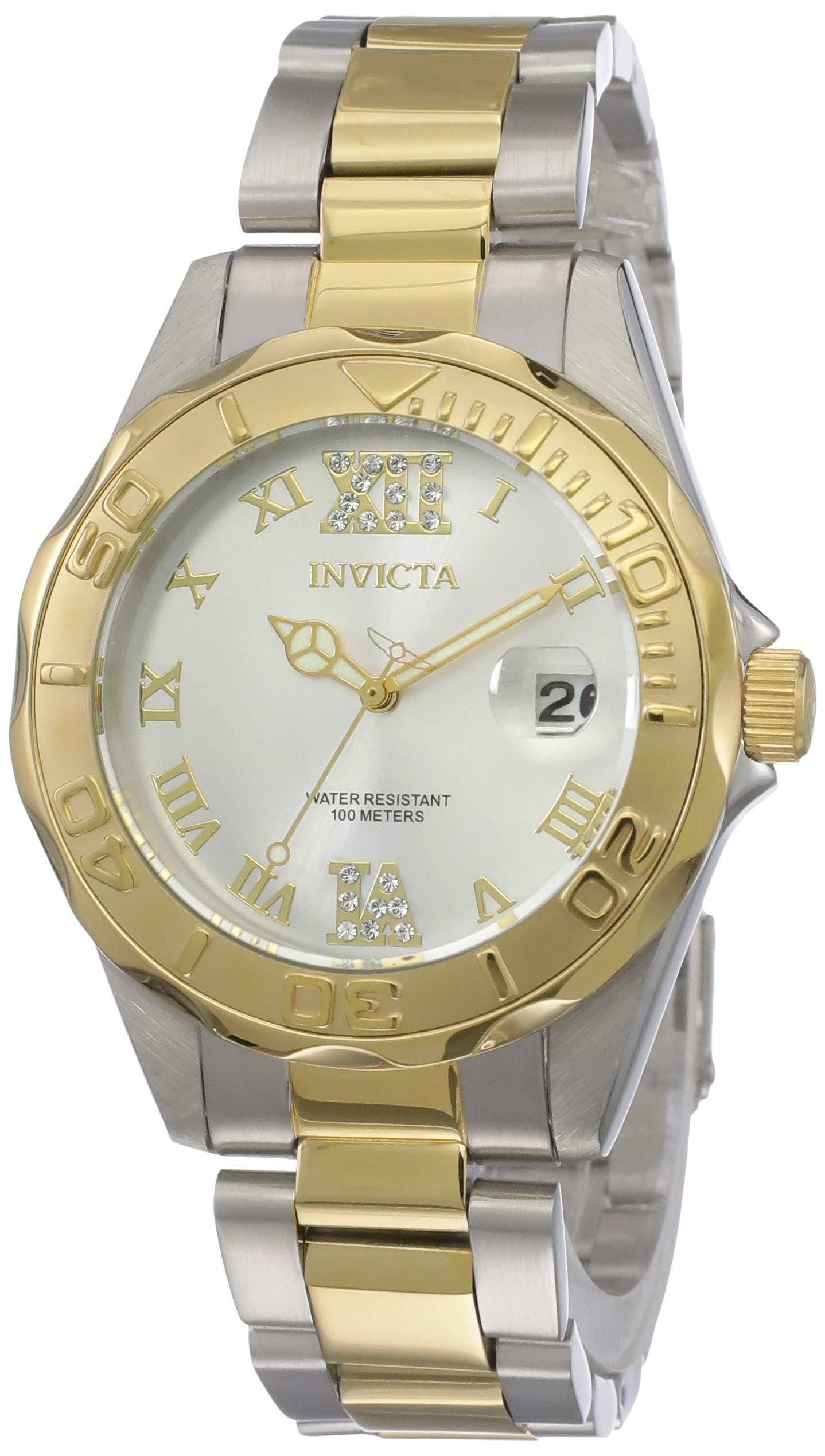 5f85697ea Inicio / Marcas / Invicta / Invicta 12852 Pro Diver Reloj para Mujer acero  inoxidable Cuarzo Esfera plata
