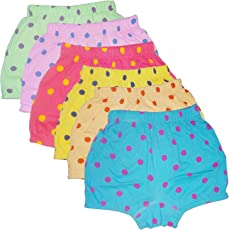 UCARE Pure Cotton Multi-Coloured Bloomer for Girls & Kids (617-Packof6)