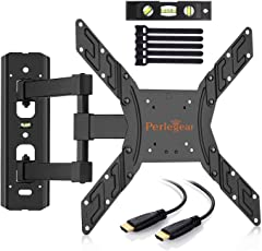 Perlegear TV Halterung Schwenkbar Neigbar für 23-55 zoll (58-140cm) LED, LCD, Plasma, Flach&Curved Fernseher oder Monitor bis zu 40Kg, max.VESA 400x400mm
