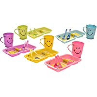 Kids Trends Smiley Gift Set of Smiley Plate & Mug for,Return Gifts for Kids Birthday Party (Pack of 14)