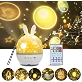 Veilleuse Enfant Projecteur, Projecteur Étoiles Rotatif avec Musique 6 Films Minuteur 360°Rotation Galaxy Sky Lights Cadeaux