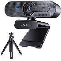 Jelly Comb HD USB Computer Webcam mit Stativ Set 1080P Webkamera mit Autofokus, Sichtschutz und Dual-Mikrofon für Skype…