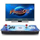 SeeKool Pandora's 9D Juegos clásicos Consola de Videojuegos, 2700 in 1 Multijugador Arcade Game Console, 4 Joystick Partes de