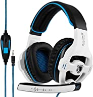 SADES SA810 Wired Over Ear Stereo Gaming Headset with Noise Isolation Microphone for NewXboxOne/PC/MAC/ PS4/ Phones/Tablet in