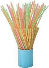 E Shopping Bendable Neck Drinking Plastic Straws, 175 Pieces, Multicolored