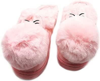 P&L - Pantofole Invernali da Donna, Antiscivolo, Calde e Termiche, comode in Cotone