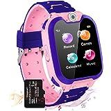 Vannico Reloj Inteligente Niño, Musica Smartwatch Game Watch 7 Juegos Cámara 1.54 Pantalla Táctil Teléfono para Niños Niña