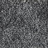 Teppichboden Auslegware Meterware Velour meliert grau anthrazit 400 cm und 500 cm breit, verschiedene Längen