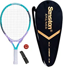 "Senston 19"" 23"" Kids Junior Tennis Racquet for Kids Children Boys Girls Tennis Rackets with Racket Cover Tennis Overgrip Vibration Damper"