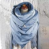 SJYM Fashion Women Soild DOT Pulsante di Stampa Soft Wrap Casual Sciarpe Calde Scialli Sciarpa Sciarpa Donna, A, Taglia Unica