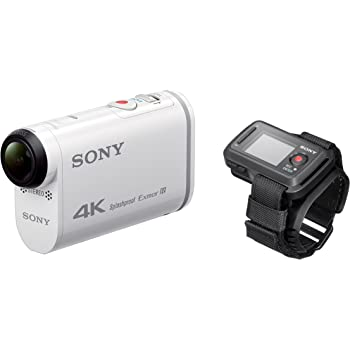 Sony FDR-X1000VR Action Camera 4K con Kit Telecomando Live View, Sensore CMOS Exmor R da 8,8 Megapixel, Obiettivo Zeiss Tessar, Wi-Fi, NFC, GPS, Bianco