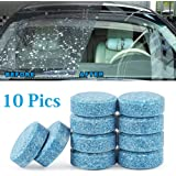 mahek accessories 10PCS/1Set Car Wiper Detergent Effervescent Tablets Washer Auto Windshield Cleaner Glass Wash Cleaning…