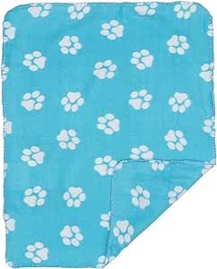 Sfondo Blu con Zampe Gialle UEETEK Coperta Caldo Morbido di Cane Gatto Animali Domestici con Zampa Stampa 60x70cm