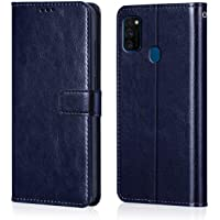 WOW Imagine Galaxy M21 / M30s Flip Case | Leather Finish | Inside TPU with Card Pockets & Stand | Magnetic Closure | Shock Proof Wallet Flip Cover for Samsung Galaxy M30s / M21 - Blue