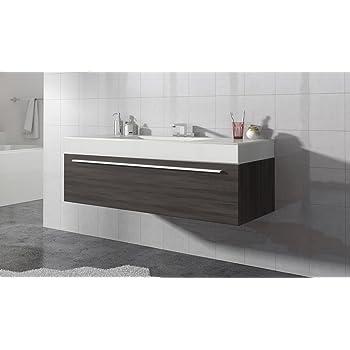 badezimmer badmobel garcia 120 cm eiche dunkel unterschrank schrank waschbecken waschtisch