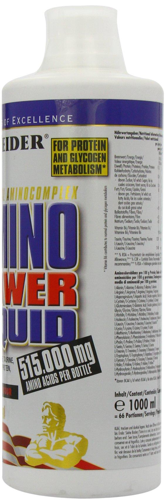 718X%2BmTI6vL - Weider Amino Power Liquid 1L Energy, Essential Amino Acids, L-leucine, Free Taurine, Vitamin B8