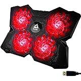 KLIM Wind - Base di Raffreddamento PC Portatile + Il più Potente Supporto PC Portatile + Azione Rapida 1200 RPM + Gaming Lapt