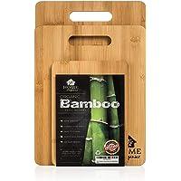 Home Organics Set di taglieri Premium in bamb ugrave  moso  Ideali per la Preparazione di Cibo  Carne  Verdura  Pane  Cracker e Formaggio