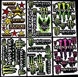 6 bogen Aufkleber GD selbstklebend Stickers rockstar energy drink BMX moto-cross decals Abziehbilder MX