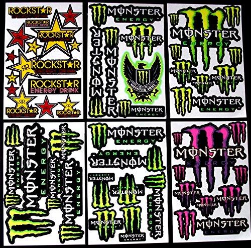 Preisvergleich Produktbild 6 bogen Aufkleber GD selbstklebend Stickers rockstar energy drink BMX moto-cross decals Abziehbilder MX