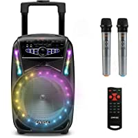 "EARISE M15 Karaoke-Maschine mit 2 drahtlosen Mikrofonen, tragbarem 400 W Bluetooth-PA-Lautsprecher, 8""-Subwoofer, LED…"